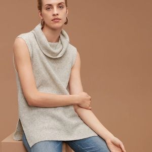 Aritzia Community Sleeveless turtleneck sweater